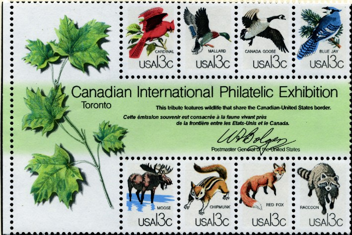 Scott 1757 13 Cent Stamps Canadian International Philatelic Exhibition