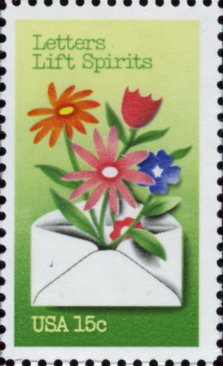 Scott 1807 15 Cent Stamps Letters Lift Spirits