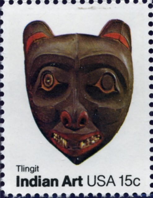 Scott 1836 15 Cent Stamp Indian Art Mask Tlingit