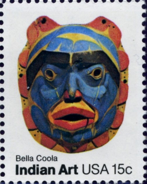 Scott 1837 15 Cent Stamp Indian Art Mask Bella Coola