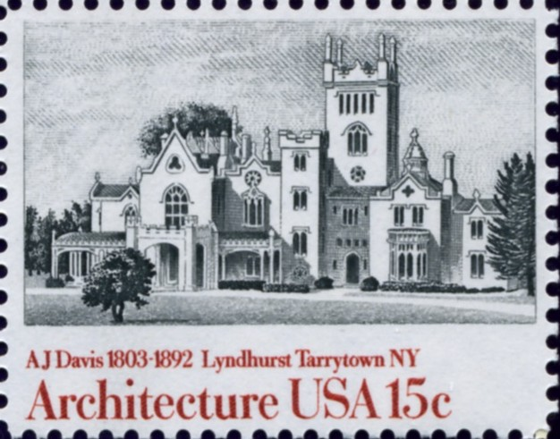 Scott 1841 15 Cent Stamp Architecture Lyndhurst Tarrytown NY by Davis