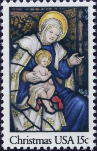 Scott 1842 15 Cent Christmas Stamp Madonna and Child