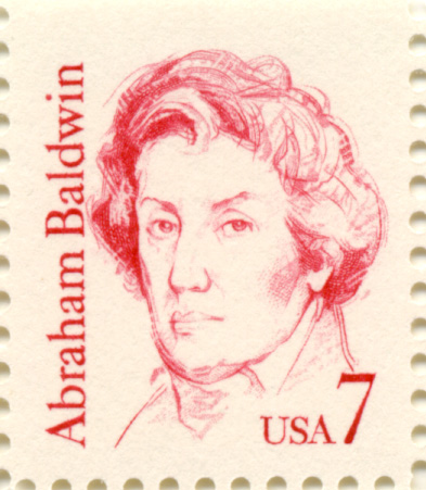Scott 1850 Abraham Baldwin 7 Cent Stamp