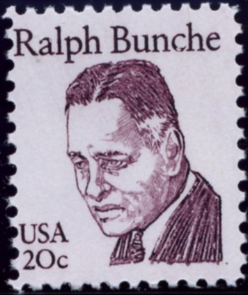 Scott 1860 20 Cent Stamp Ralph Bunche