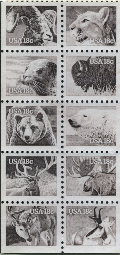 Scott 1880 to 1889 18 Cent Stamps American Animals