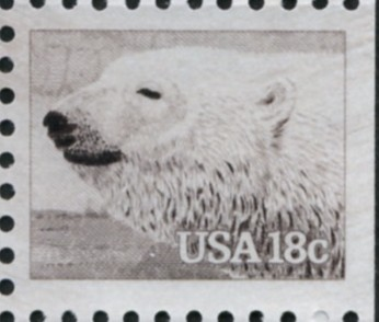 Scott 1885 18 Cent Stamp Polar Bear