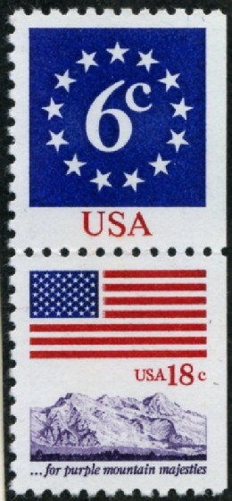 Scott 1892 and 1893 6 and 18 Cent Stamps Pair