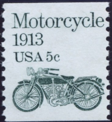 Scott 1899 5 Cent Coil Stamp Motorcycle