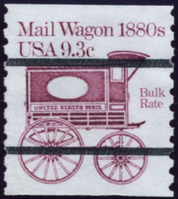 Scott 1903 9.3 Cent Bulk Rate Precanceled Coil Stamp Mail Wagon