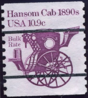 Scott 1904 10.9 Cent Bulk Rate Precanceled Coil Stamp Hansom Cab