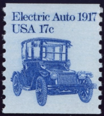 Scott 1906 17 Cent Coil Stamp Electric Auto