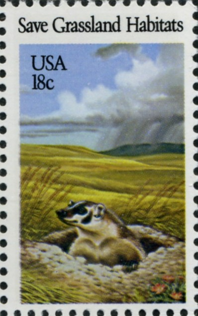 Scott 1922 18 Cent Stamp Save Grassland Habitats