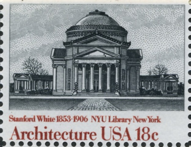 Scott 1928 18 Cent Stamp Architecture New York University Library by Sanford White