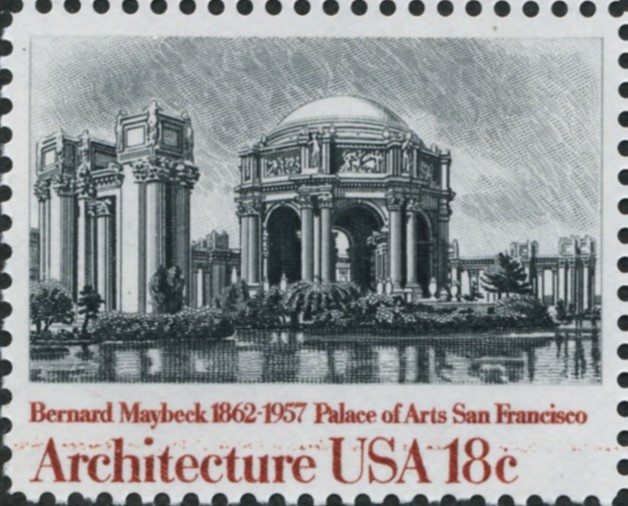 Scott 1930 18 Cent Stamp Architecture Palace Of Arts San Francisco by Bernard Maybeck