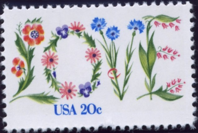 Scott 1951 20 Cent Stamp Love With Flowers
