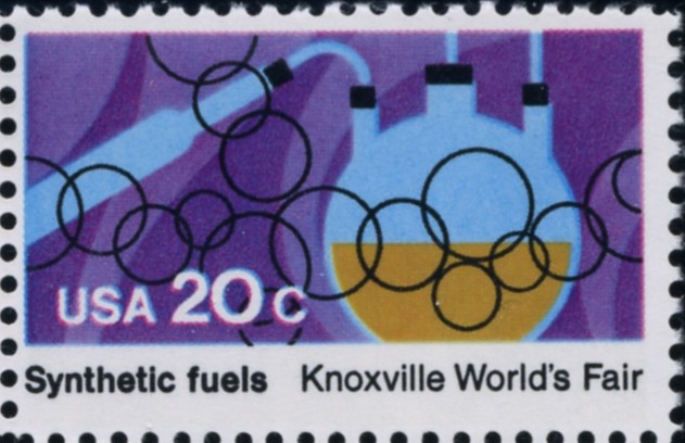 Scott 2007 20 Cent Stamp Knoxville World's Fair Synthetic Fuels