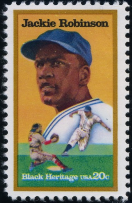 Scott 2016 20 Cent Stamp Black Heritage Jackie Robinson