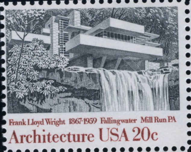 Scott 2019 20 Cent Stamp Architecture Fillingwater in Mill Run PA by Frank Lloyd Wright