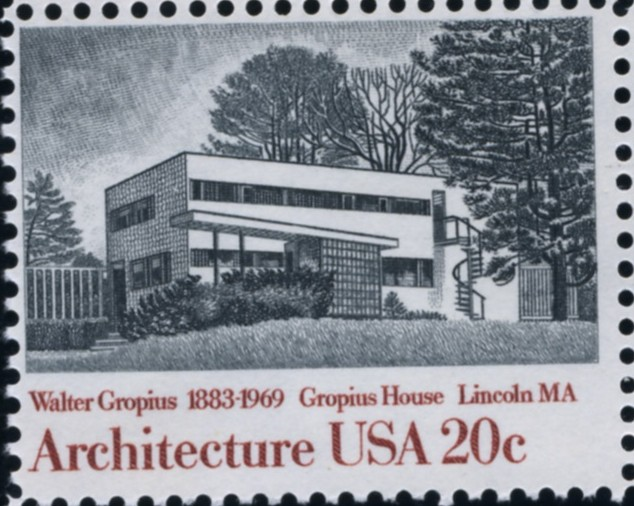 Scott 2021 20 Cent Stamp Architecture Gropius House by Walter Gropius