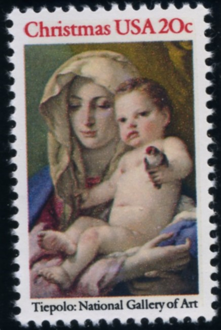 Scott 2026 20 Cent Christmas Stamp Madonna and Child by Tiepolo