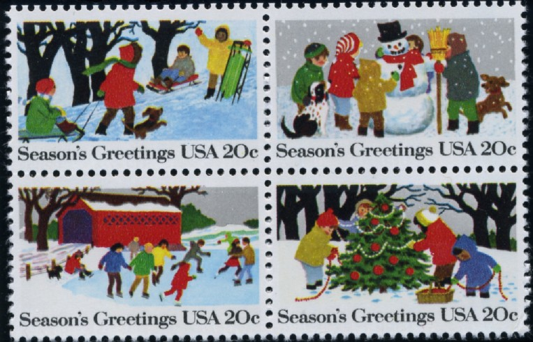 Scott 2027 to 2030 20 Cent Christmas Stamps Seasons Greetings