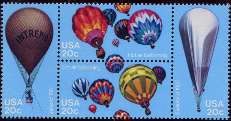 Scott 2032 to 2035 20 Cent Stamps Hot Air Balloons
