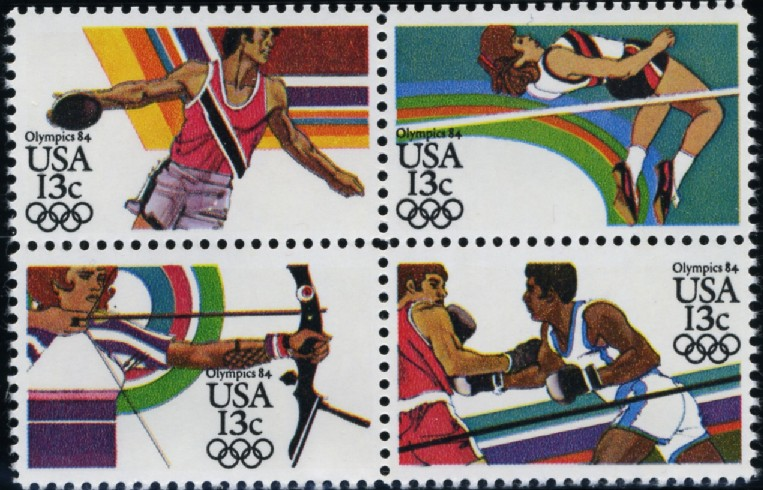 Scott 2048 to 2051 13 Cent Stamps 1984 Summer Olympics