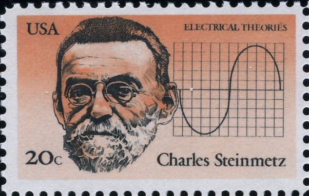 Scott 2055 20 Cent Stamp Charles Steinmetz Electrical Theories