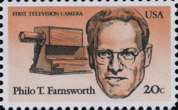 Scott 2058 20 Cent Stamp Philo Farnsworth First Television Camera