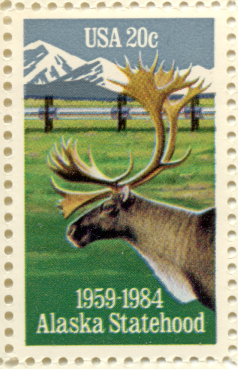 Alaska Statehood 20 Cent Stamp Scott 2066