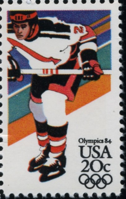 Scott 2070 20 Cent Stamps 1984 Winter Olympics Hockey