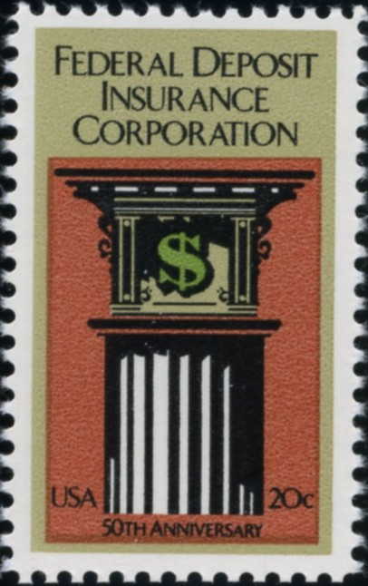 Scott 2071 20 Cent Stamp FDIC Federal Deposit Insurance Corporation