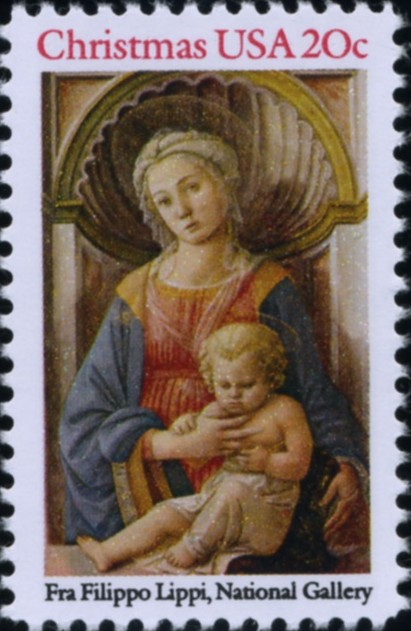 Scott 2107 20 Cent Christmas Stamp Madonna and Child by Fra Filippo Lippi