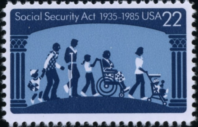 Scott 2153 22 Cent Stamp Social Security Act