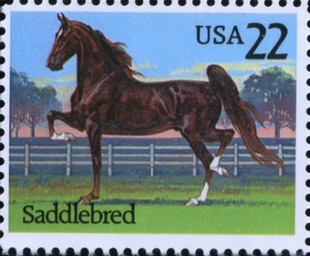 Scott 2157 22 Cent Stamp Saddlebred Horse