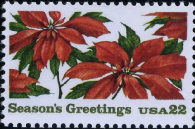 Scott 2166 22 Cent Christmas Stamp Seasons Greetings