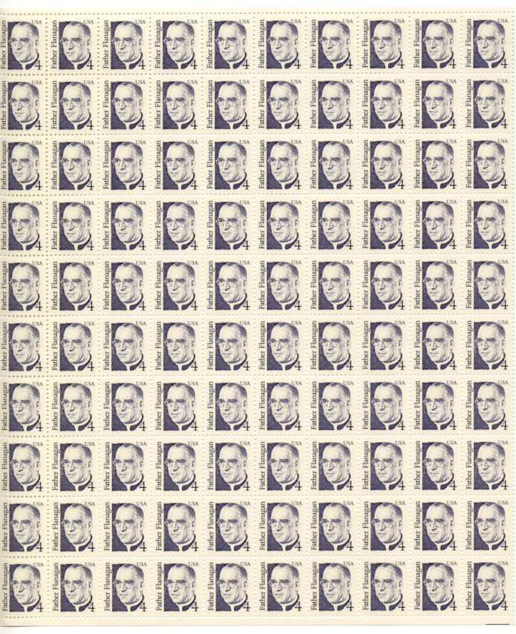 Scott 2171 Father Flanagan 4 Cent Stamps Full Sheet