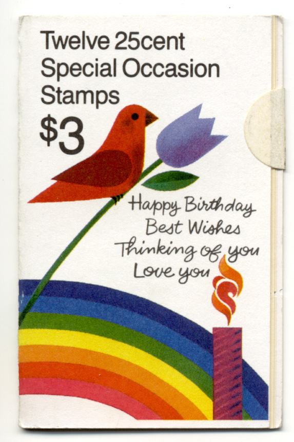 Scott 2395 throught 2398 Special Occasion 25 Cent Stamps Booklet of 12