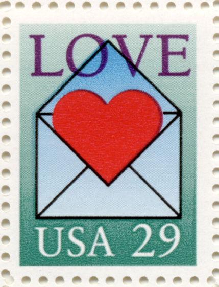 Scott 2618 Heart In Envelope 29 Cent Love Stamp