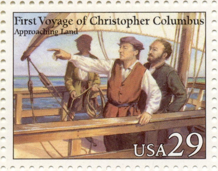 Scott 2622 Christopher Columbus Approaching Land 29 Cent Stamp