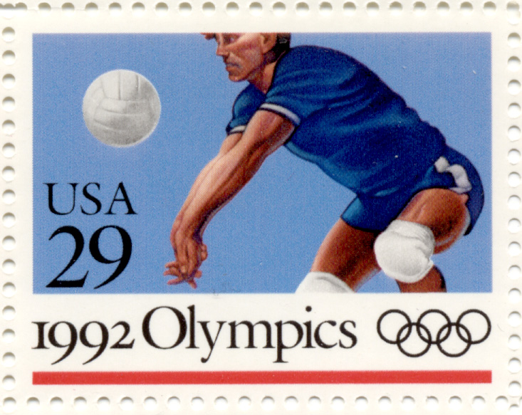 Scott 2639 1992 Summer Olympics Volleyball 29 Cent Stamp