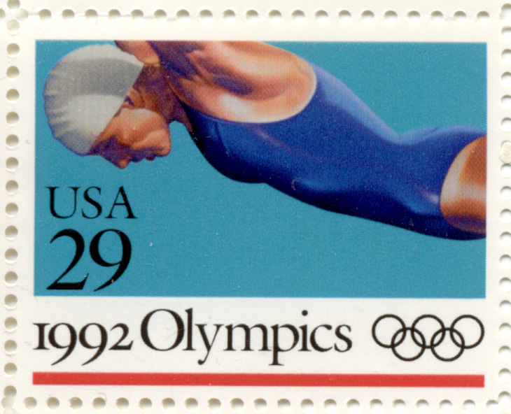 Scott 2641 1992 Summer Olympics Diving 29 Cent Stamp