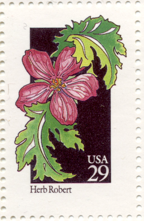 Scott 2657 Wildflowers Herb Robert 29 Cent Stamp