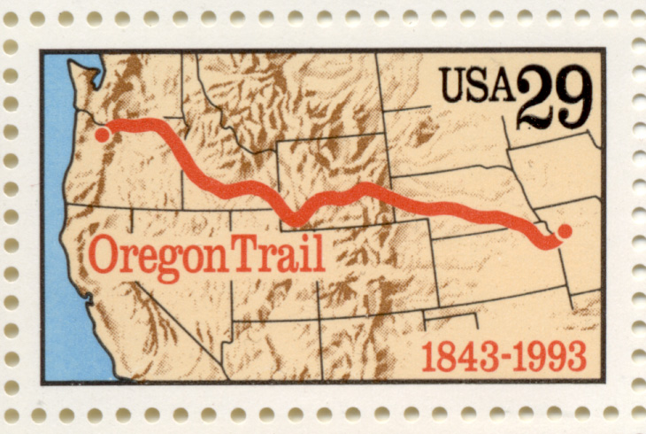 Scott 2747 Oregon Trail 29 Cent Stamp
