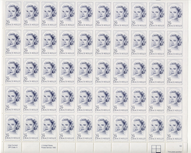 Scott 2749 Grace Kelly 29 Cents Stamps Full Sheet