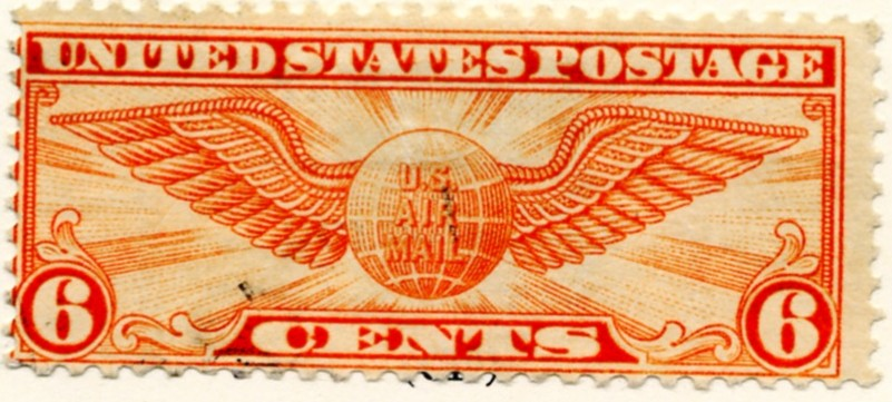 Scott C19 Winged Globe 6 Cent Airmail Stamp a