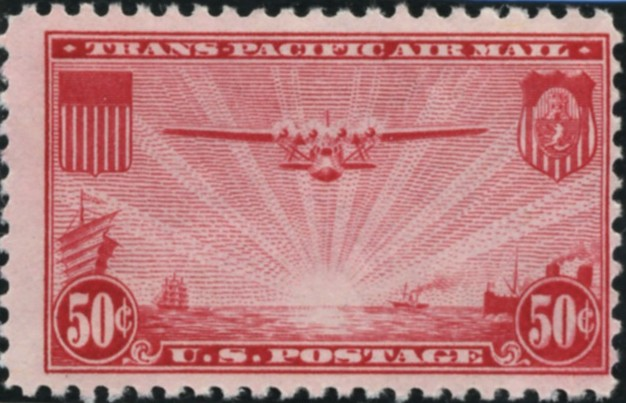 Scott C22 Pan Am Clipper 50 Cent Airmail Stamp