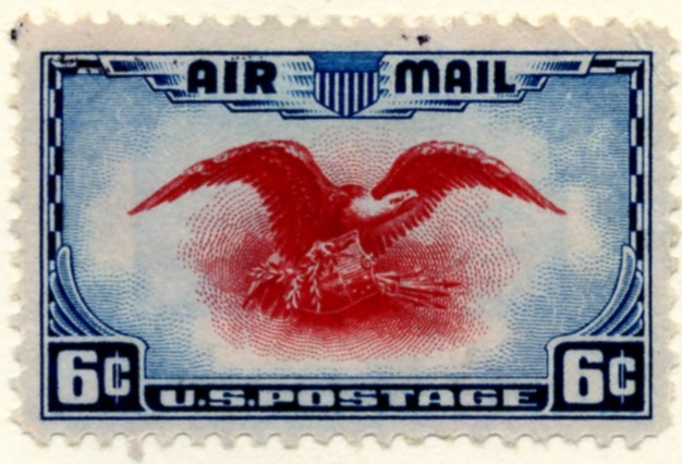 Scott C23 Eagle and Shield 6 Cent Airmail Stamp a