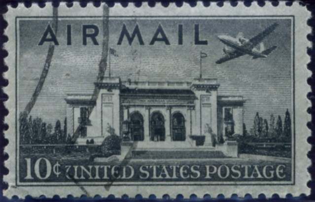 Scott C34 Pan American Union Building 10 Cent Airmail Stamp