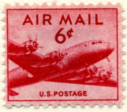 Scott C39 DC-4 Skymaster 6 Cent Airmail Stamp a